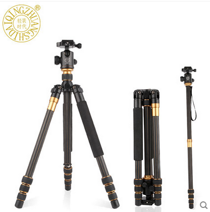 Q999C digital slr carbon fiber camera tripod mount for trill tripod DBS(direct broadcast satellite) stand photography camcorder