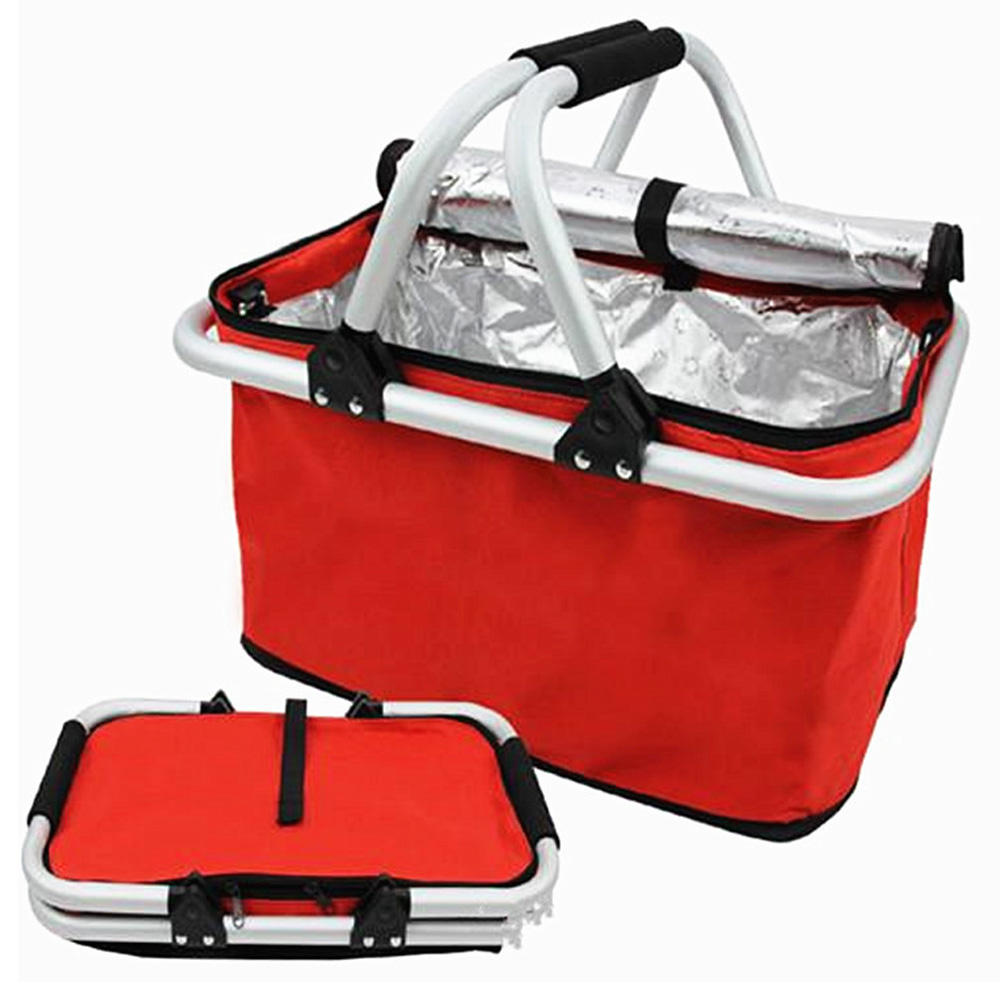 Wholesale Custom Heavy Duty Tote Cooler Insulated Folding Picnic Basket