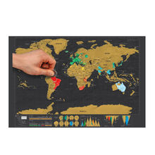 Premium Edition Gold Foil Scratch Off Travel World Map For Travelers