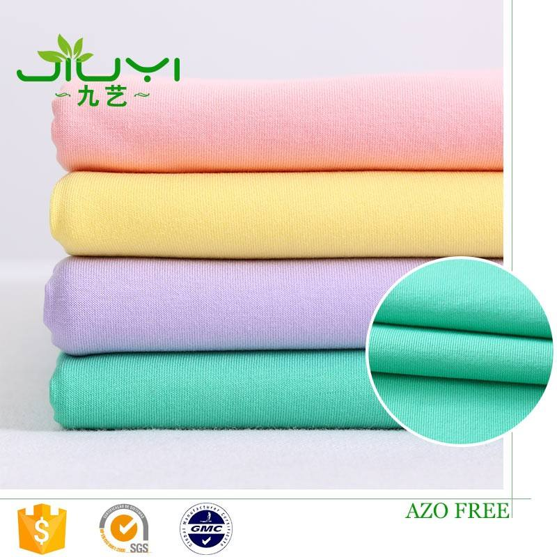 high quality wholesale slightly stretchy 32s combed smooth cotton 95 cotton 5 lycra fabric