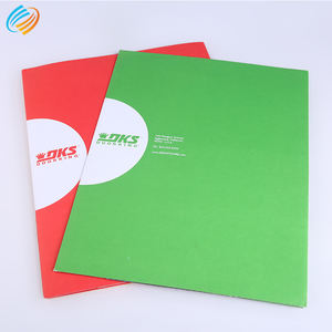 Custom Printing Paper A3/A4 Size Brochure Jackets File Advertising 2 Pocket Presentation Folder