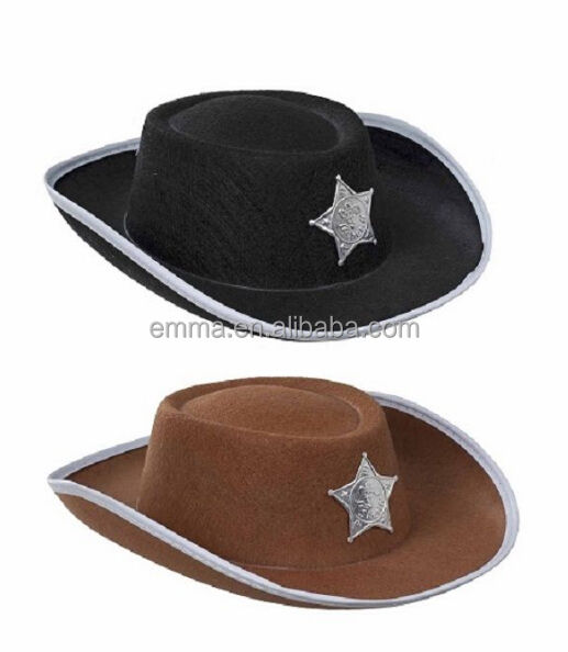 New Unisex Cowboy Hat Suede Look Wild West Fancy Dress Mens Ladies Cowgirl Hats HT17489