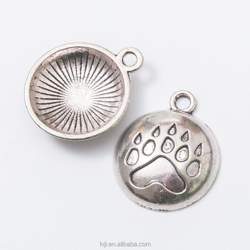 Bear Claw Charms Antique Tibetan silver Bear Paw charm pendants