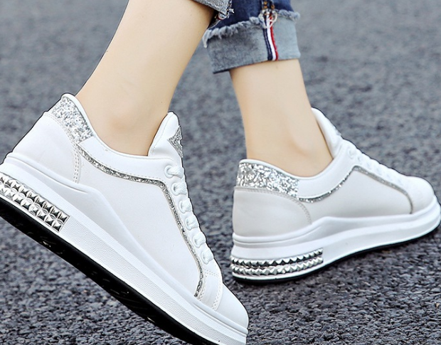 New autumn latest design fashion lace-up sequin china wholesale woman shoes