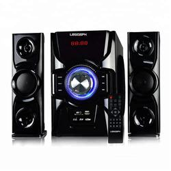 2.1 Multimedia Super Bass Speaker Subwoofer Wooden Box Speaker With Home theater system