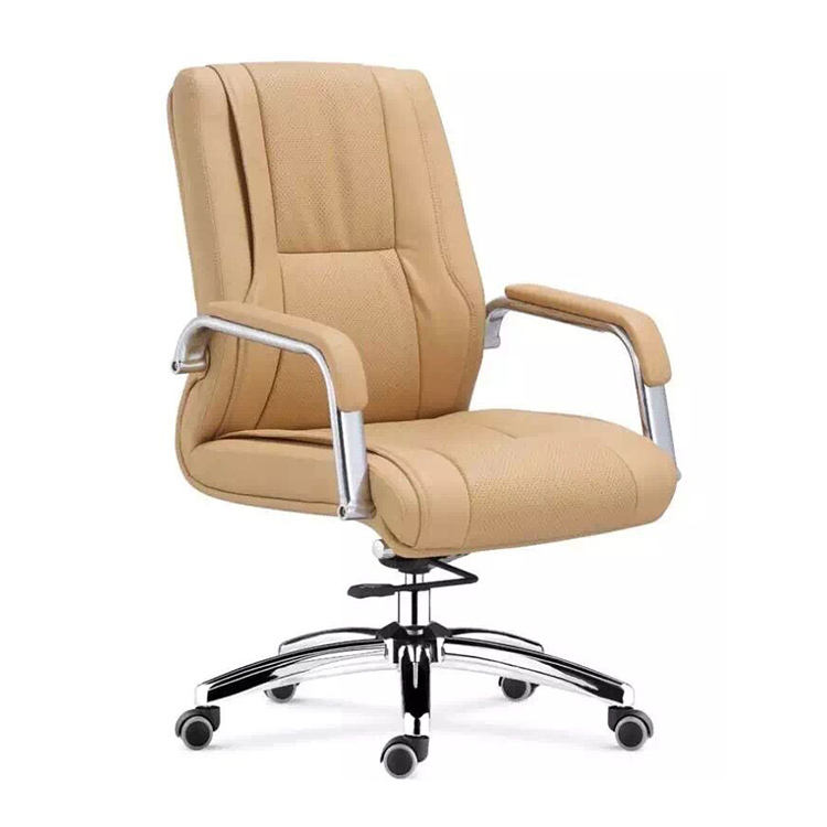 Stainless steel frame leather swivel chair modern green cheap executive office chairs