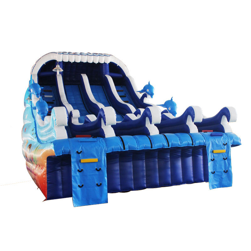dinosaur style inflatable castle