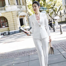 Dress Suit Women Office Suit Women Ladies White Pants Suit