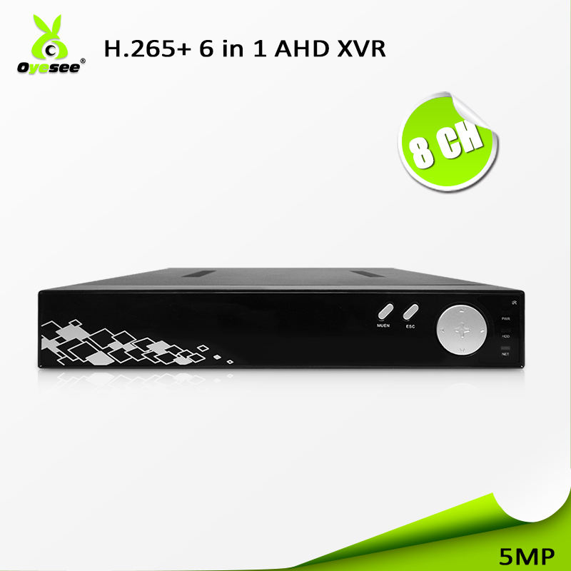 2018 Top-rated 5MP 1HDD series mostly AHD cctv dvr 8 channel 6 in 1 h.265 ccvt security dvr p2p easy installation