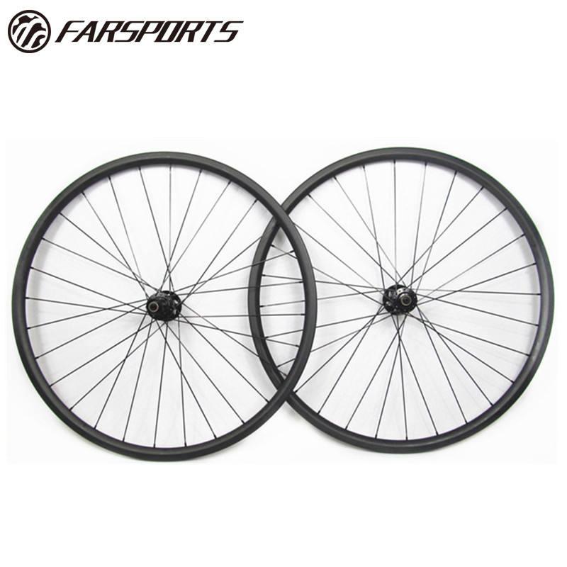 Tubular Straight pull spoke carbon hub 20mm deep carbon road bike wheel 700C