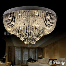 Modern living room bedroom luster crystal teardrop lighting ceiling hanging lamps