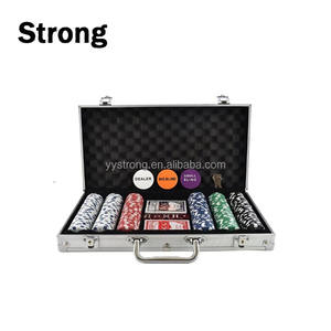 Professionele Fabriek Custom print 300 stks casino poker chip set