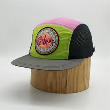 Custom High Quality Unstructured  5 Panel Snapback Caps, Design Men Outdoor Mesh Camp Hat,Quick Day Nylon Camp Cap