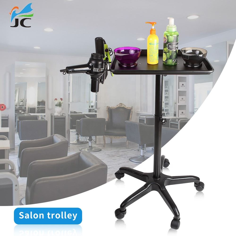 hair extension barber salon trolley aluminium service tray height adjustable rolling cart