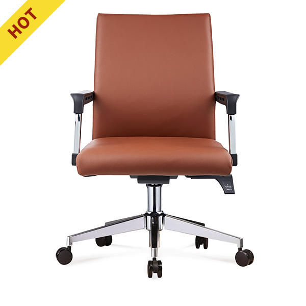 Hot sell cheap used leather office chair chrome black metal frames office chair
