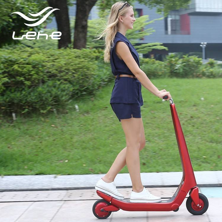 Aluminum material kick balancing electric scooter