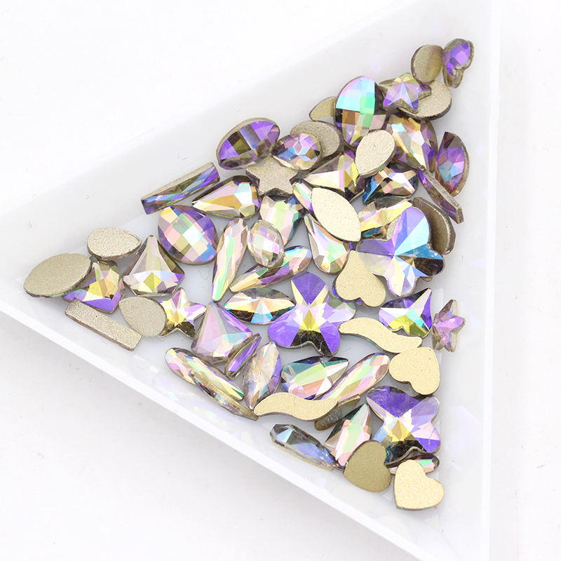 K9 Glass Ghost Light Colors Flat Back Glass Nail Art Rhinestones for Nail Design Phone Case Accessories