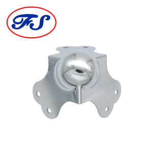 Fs3133 decorative feet leg metal corner for aluminum box