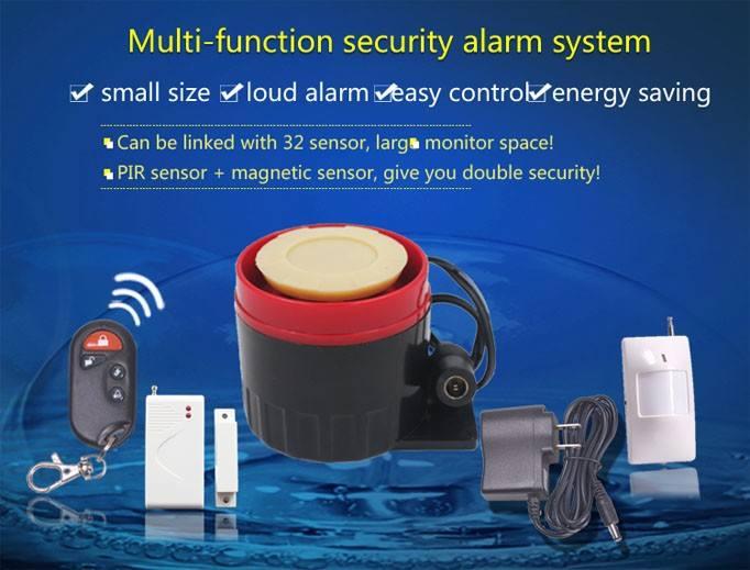 2015 nuevo diseño inalámbrico detector de movimiento ir alarma