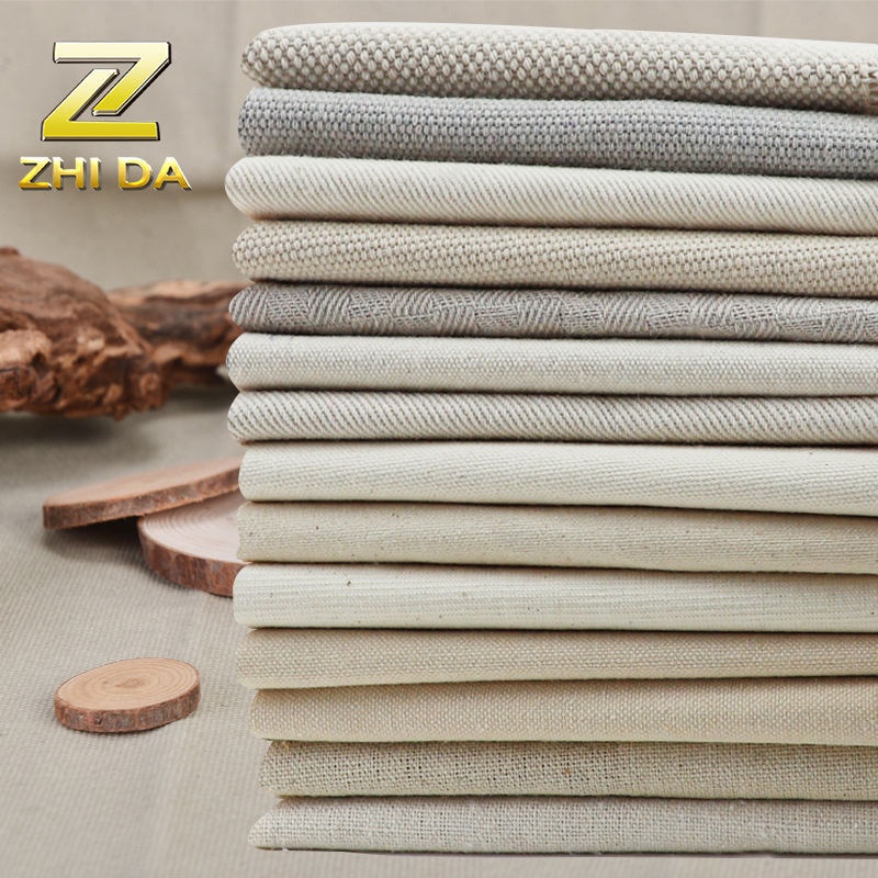 Fashion 45% Cotton Blend 100% Linen Home Textile Fabric