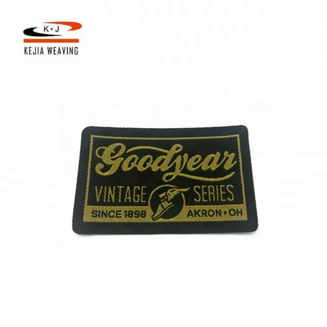 Ultrasonic cut Customized China professional manufacturer custom printing sticker woven labels privte logo