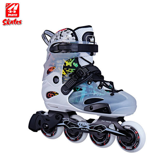 Roller Blades Flashing Wheels Adult Four Wheel 60Mm Inline Skate Shoes