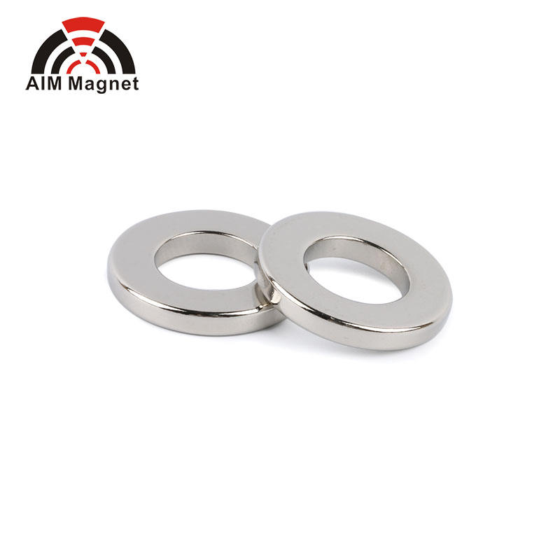 Radial Oriented Ring Sintered Neodymium Rare Earth Permanent N52 N35 Ring Magnets