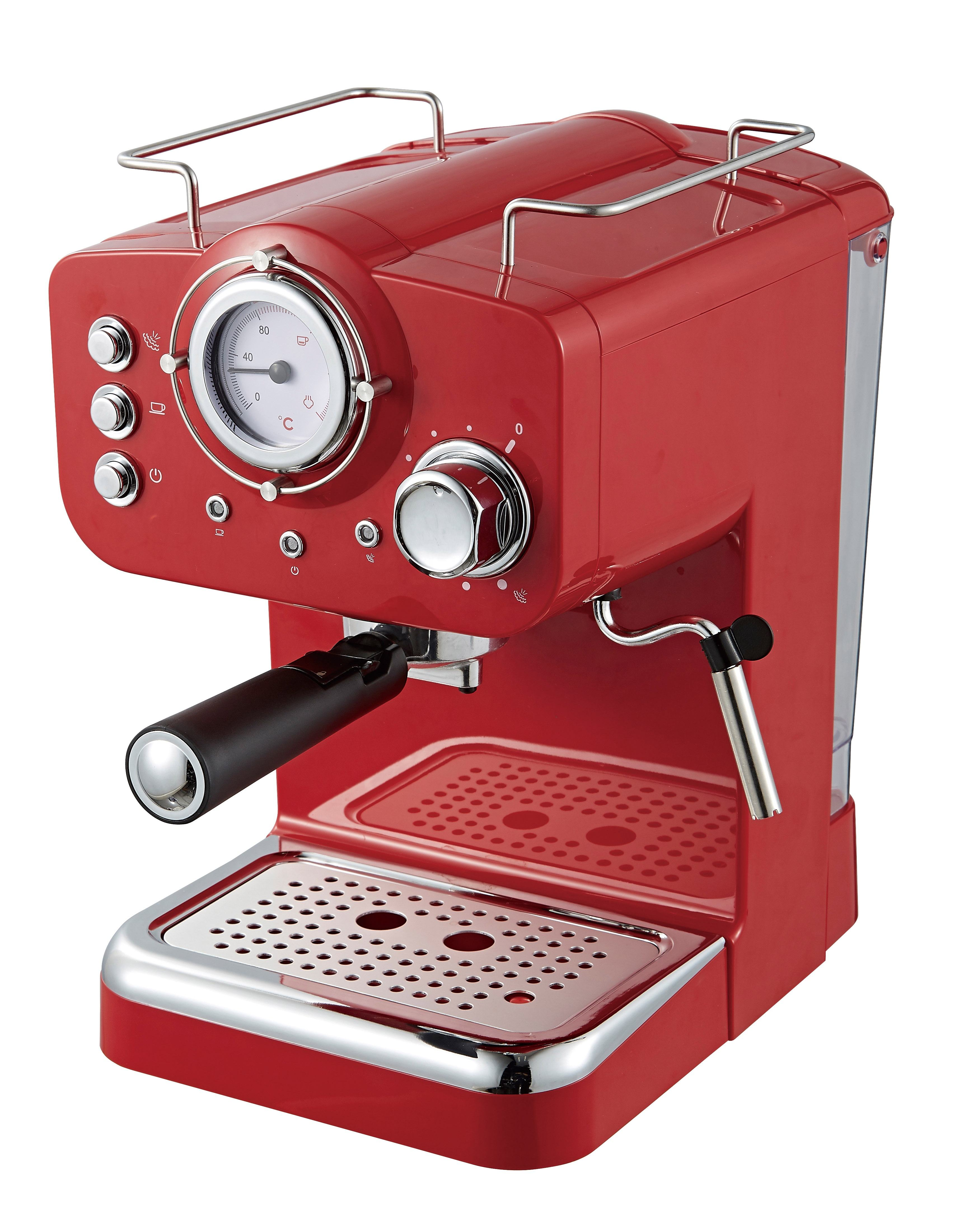 15 bars and 20 bars high pressure cappuccino espresso coffee machine equipped with Italian pump