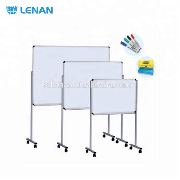 Aluminium frame height adjustable mobile easel white board standard size whiteboard with stand for kids