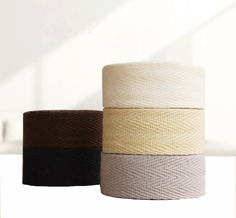 100%cotton high quality wholesale organic cotton ribbon