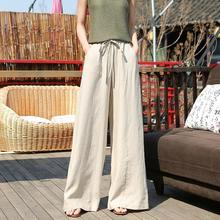 Ladies Long loose linen pants for women clothes manufacturer