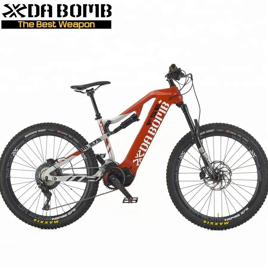 DaBomb OEM Bicycle Carbon Fiber Electric Mountain Bike with E8020