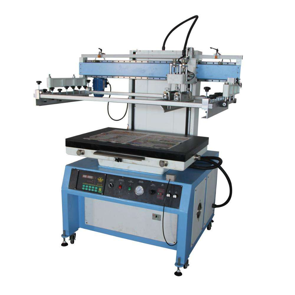 High quality paper flat bed screen printing machine with vaccum table LC-6090P