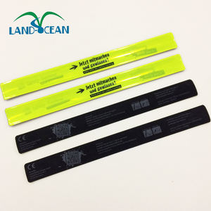 Reflecterende PVC Slap Band Groothandel Snap Slap Armband