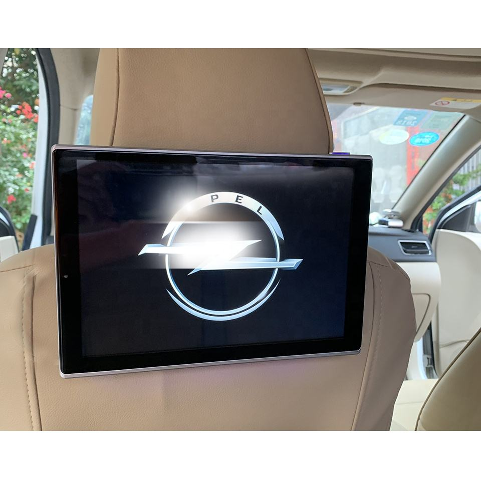 Super Slim Bluetooth Headrest Android TV Displays Car Rear DVD Monitor For Opel Astra Vectra Insignia Zafira Antara Meriva GT