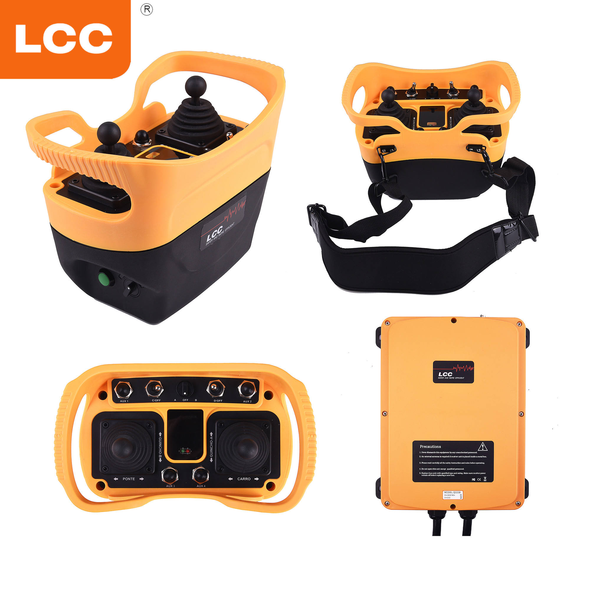 Waterproof industrial wireless radio remote control use for electro-mechanic or electro-hydraulic machine