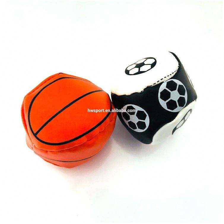 Promotional pu soccer ball stuffed custom logo printed basketball juggling balls toys