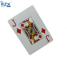 Die cut offset printing custom size plastic playing poker card