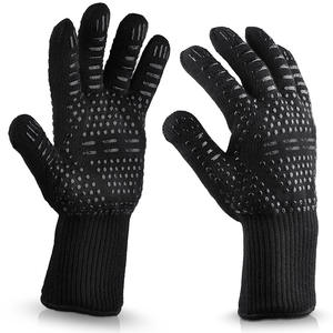 Customized Aramid Barbecue Oven Glove Handschuhe 932F Extreme Heat Resistant Glove Grill BBQ Glove for Cooking Baking