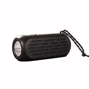 Flashlight outdoor audio professional loudspeaker portable mini wireless radio active speaker with fm usb port music amplifier