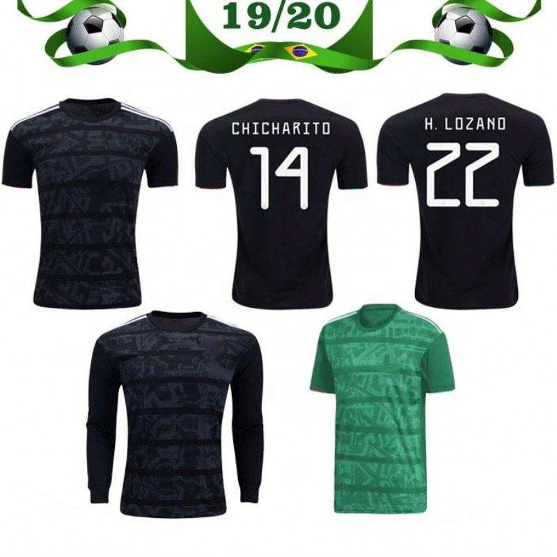 Women/'s CHICHARITO Black Mexico Soccer Jersey Unbranded 2019 Jersey