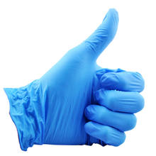 Free sample  custom powder free disposable 3/4/5/6 mil nitrile glove
