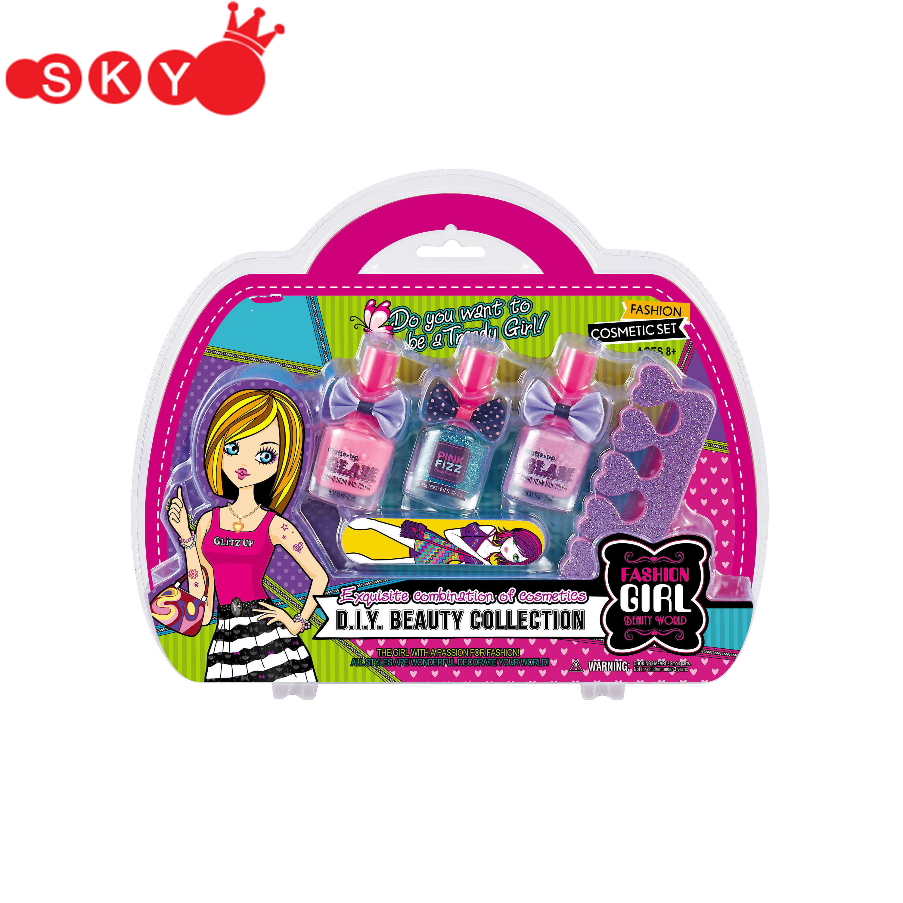 New toys 2018 kids diy 못 매니큐어 패션 kit girls beauty set
