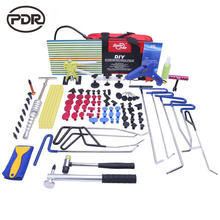 Super PDR Paint less Dent Repair PDR Tools Push Rods Hail Puller Lifter Hammer Tail Kits dent removal kit