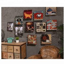 wholesale custom embossed home wall decor metal crafts vintage lighted tin poster signs