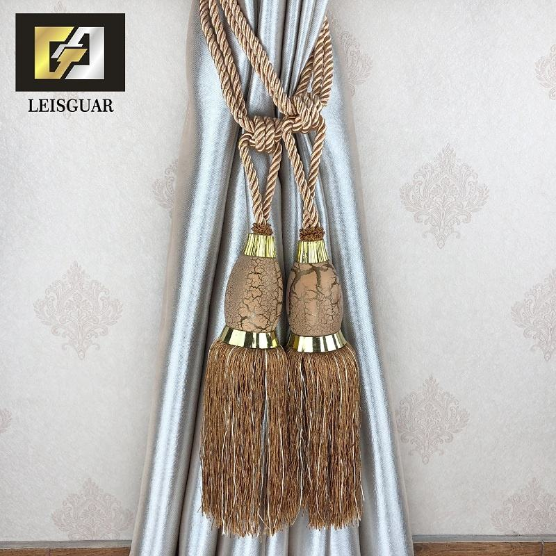 Decorative Tie Back Tieback Bead Buckle Ball Classical Curtain Tassel Tieback