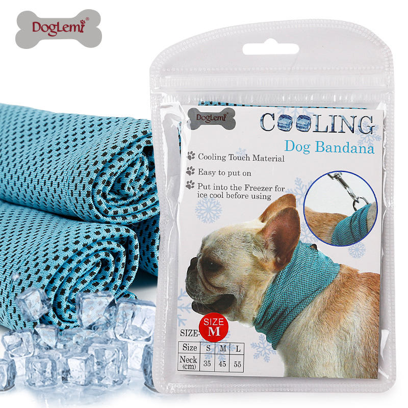 Pet Cooling Bandana Dog Scarf Bulldog Summer Towel Wrap