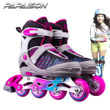 Small Medium Large size Light up PU wheels rollerblades skates patines en linea skating shoe for girls ladies boys