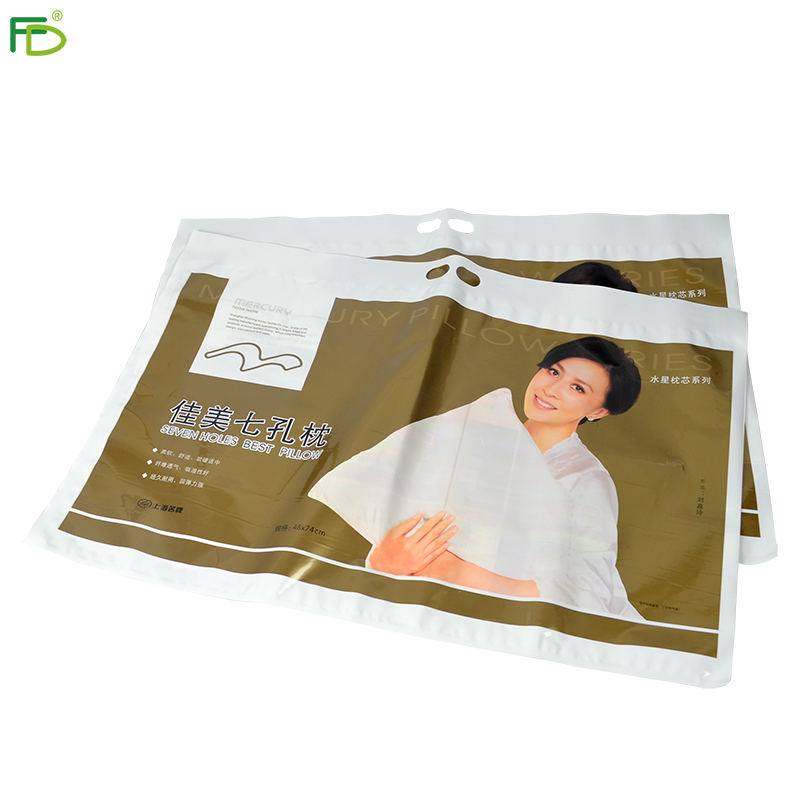 hot selling new style clear plastic pillow carrier packaging bag