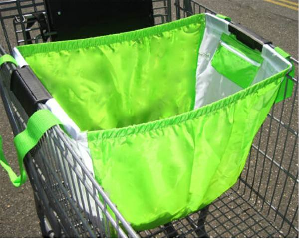 Wholesale Reusable Customized Tote Shopper Bags Supermarket Portable Shopping Cart Bag for Vegetable